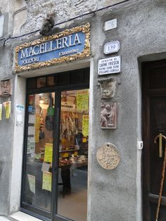 Traditional Butchers Shop In Tuscany