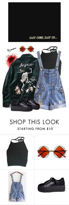 """okay"" by paper-freckles ❤ liked on Polyvore featuring FUCT, Retrò and Mancienne"