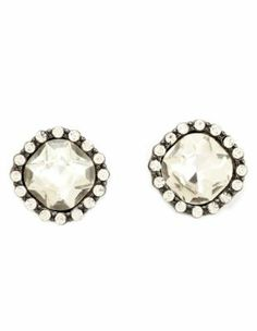 Faceted Rhinestone Stud Earring