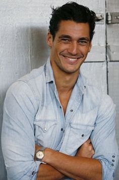 David Gandy. A smile to die for. OMG! no wonder he is the most sexy man in the world.