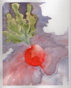 September 1, 2013 'radish red' Jane Tims