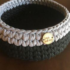 Black and grey basket