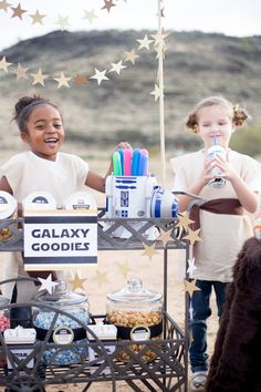 Stars banner for Star Wars party