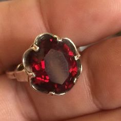 Vintage 1960s Estate Sarah Coventry Sterling Silver Ruby Red Quartz Ring | Jewelry & Watches, Vintage & Antique Jewelry, Fine | eBay!