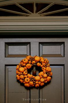 pumpkin wreath / david fuller photo