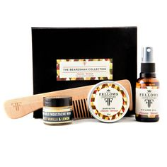 An essential kit for the modern beardsman containg Beard Oil, Beard Butter, Moustache Wax & Comb. A perfect Gift for the modern bearded gentleman with everything you need to keep the beard in healthy order. Products offer natural vitamins, light hold beard styling, firm hold moustache twizzling and prevent itchiness whilst moisturising hair and skin. An essential kit for the bearded man.  All products are handmade and 100% natural (free from pretochemicals and synthetics)Pack Contains: 1 x…