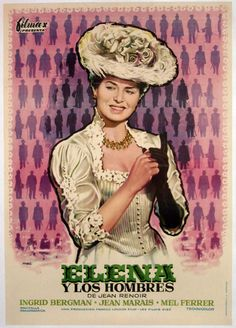 "MP1131. ""Elena et les hommes"" Spanish Movie Poster by Mac (Jean Renoir 1956) / #Movieposter"