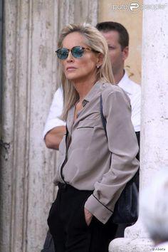 I love a nice simple blouse and black slacks.