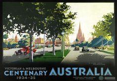 St Kilda Road Melbourne Australia Vintage Travel Poster by James Northfield | eBay