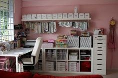 Love all the small boxes, for little crafting supplies.