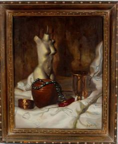 """Still Life with Nude""  by Al Alfred Jackson Oil on Canvas 
