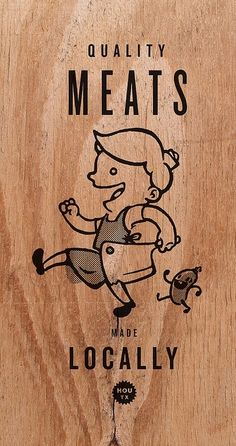 Quality Meats / This Old Machine - Wooden Business Cards