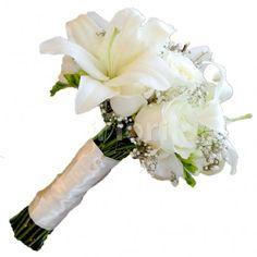 buchet-mireasa-crini-cu-trandafiri-albi-(bm59) Horsehair