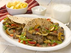 Spice it up while keeping your family's plate balanced with this steak and mushrooms MyPlate recipe. #MightyMushrooms