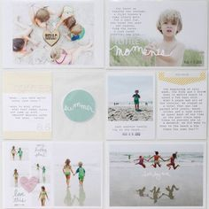 Great layout. Fun use of photos and journaling. Simple. Sweet.