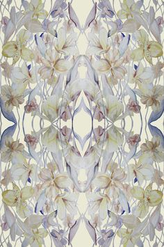 Intertwined watercolour + digital lilies  Copyright Abigail Hutton http://www.abigailhutton.com