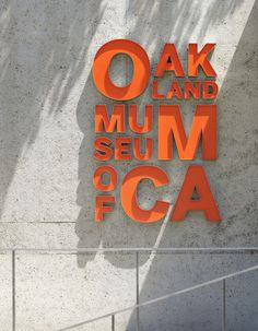 Oakland Museum of California signage