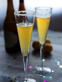 Better-than-Champagne Recipe: Fizzy Citrus & Beer Pitcher Cocktail — Tapped In | The Kitchn >> recipe for pitcher batch or single serving included