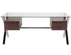Glass Top Pengea Home Beverly Desk | The Local Vault
