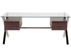 Glass Top Pengea Home Beverly Desk | The Local Vault