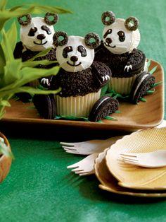 Panda Bear Cupcake ♥ need to make for claudia!