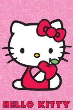 Hello Kitty (Red Apple) Art Poster Print $6.33