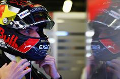 """""""Confidence is a key factor on a street circuit like Baku. Let's see where we'll end up in qualifying… Abu Dhabi, Budapest, Grand Prix, Monaco, Red Bull Racing, Japan, F1, Football Helmets, Circuit"""
