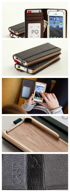 """Little Pocket Book for iPhone 5 • The thinnest handmade case we have ever created • Luxurious genuine leather inside and out • """"In short, this case will easily outlast the iPhone... probably by many years."""" -Charlie S., CultofMac.com"""