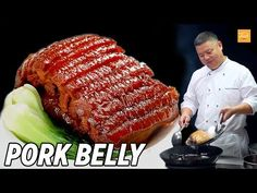 Chinese Pork Belly Recipe by Master Chef Taste The Chinese Recipes Show Video Recipes Chinese Pork Belly Recipe, Pork Belly Recipes, Lamb Recipes, Asian Recipes, Chinese Recipes, Healthy Recipes, Pork Belly Slices, Braised Pork Belly, Best Chinese Food