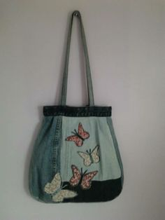 Butterfly bag #upcycled denim