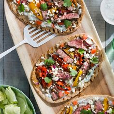 Moroccan Lamb and Feta Flat Breads with Cucumber Yoghurt