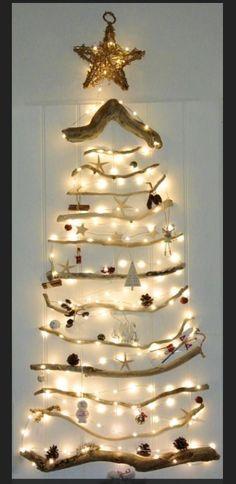 Driftwood Christmas tree made by Blipper BikerRich in Guernsey