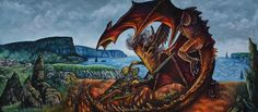 Creativity of Fià: Beowulf and the dragon: disegno definitivo