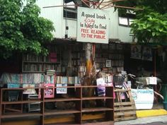 A very inspiring little corner on the Makati/Manila border.    The exact address is 1454 Balagtas St., Barangay La Paz, Makati City, Philippines. They gladly accept book donations. More on this movement here: http://lifestyle.inquirer.net/50687/ex-libris-2