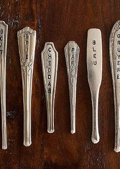 Cut from vintage silver plate, the Set of Six Silver Plate Cheese Markers elevates your entertaining and is sure to delight your guests.