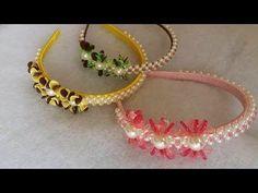 Diy Jewelry, Beaded Jewelry, Jewelry Making, Jewellery, Felt Headband, Headbands, Ribbon In The Sky, Hair Bow Tutorial, Hair Ribbons