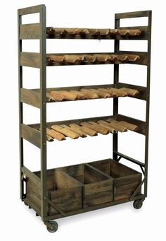 an urban living furniture collection our vintage industrial style harlem wine rack on wheels will make a great addition to an industrial chic kitchen or buy industrial furniture