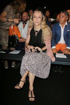 Franca Sozzani sul frontrow Gaultier
