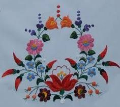 Image result for kalocsai minta sablon Chain Stitch Embroidery, Tambour Embroidery, Hungarian Embroidery, Folk Embroidery, Learn Embroidery, Hand Embroidery Stitches, Hand Embroidery Designs, Embroidery Techniques, Embroidery Patterns
