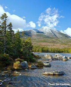 Baxter State Park, Maine ..... you will always see moose here,  they r eating stuff from the bottom of the water.