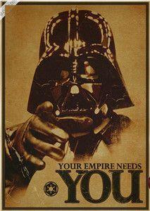 Vintage Poster Star Wars kraft paper white soldiers retro nostalgia decorative painting darth vader stormtrooper yoda 42X30CM