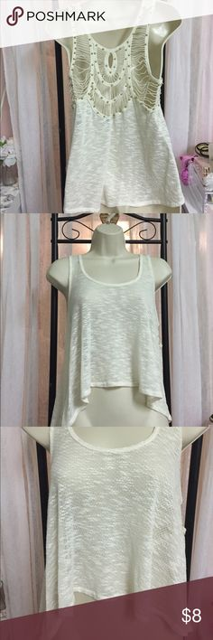 Sheer top with crochet back detail Sheer top with crochet back Forever 21 Tops