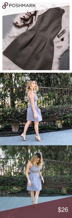 Gray Classy Dress Perfect Gray Classy Dress 💕 Available in S, M, L Dresses Midi
