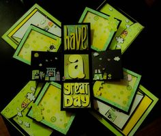 Have a nice day! exploding box, where you can put photos of your loved ones in every panels.