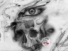 auge totenschaedel tattoo