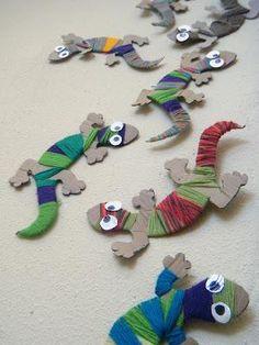 Creating with remnants of cardboard and embroidery thread or wool knitting. Creando con restos de Cartón y Hilo de bordar o lana de tejer.