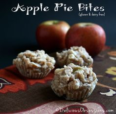 Apple Pie Bites (gluten, grain, dairy, and sugar free) | deliciousobsessions.com