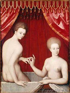 16. Jahrhundert - Zwei Damen im Bade
