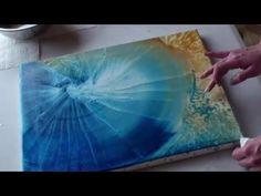 Peinture et Musique Intuitive, Aline LARANT (peinture), Sylvain LACOUCHIE (handpan aciel) - YouTube