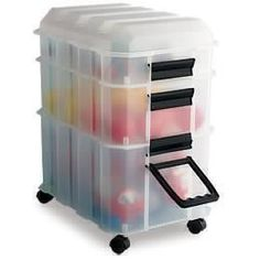 The Container Store:  Busy Box - I've used this product many times in clients' homes.  Great for toys, small bathroom items and craft supplies.